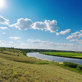 Cloudy sky over river Royalty Free Stock Images