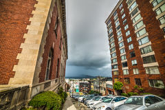 Cloudy sky over San Francisco Royalty Free Stock Photography
