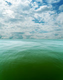 Cloudy sky over sea Royalty Free Stock Photo