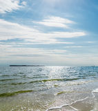 Cloudy sky over sea Royalty Free Stock Photography