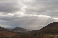 Cloudy sky over volcano island Royalty Free Stock Photo