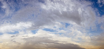 Cloudy sky panorama Stock Images
