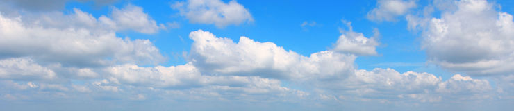 Cloudy sky panorama royalty free stock photography