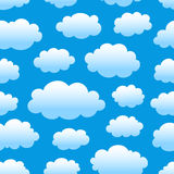 Cloudy sky pattern. Blue cloudy sky seamless pattern Stock Photos