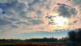 Cloudy sky. Phantom3 castle shot royalty free stock images