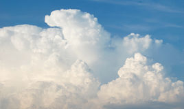 Cloudy sky. Photography of clouds and the blue sky Royalty Free Stock Images
