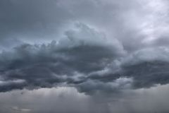 Cloudy sky. Picture of a cloudy sky with dark large clouds Royalty Free Stock Photography