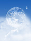 Cloudy sky with planet Stock Images
