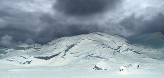 Cloudy sky in polar landscape. Picture of Cloudy sky in polar landscape stock photography
