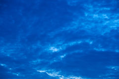 Cloudy sky before rain Royalty Free Stock Images