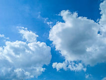 Cloudy Sky. Rainy seasons blue and white cloudy sky Royalty Free Stock Photography