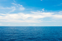 Cloudy sky and sea summer scenery Stock Image