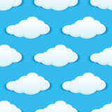 Cloudy sky seamless pattern Royalty Free Stock Photos