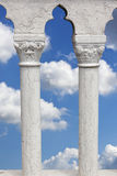 Cloudy sky seen through marble columns Royalty Free Stock Photography