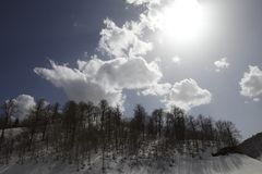 Cloudy Sky and Snow Stock Images