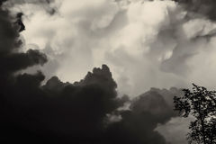 Cloudy sky before storm Stock Photography