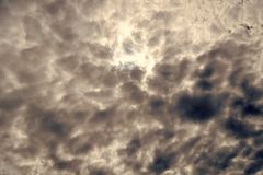 Cloudy sky. Stormy clouds on sky. Dramatic sky. Thunderstorm weather with dark sky. Nature and environment.  royalty free stock image