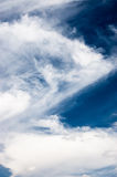 Cloudy sky. In summer day stock photos