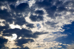 Cloudy sky and sun beam Royalty Free Stock Images
