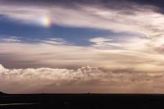 Cloudy sky with sundog Stock Photography
