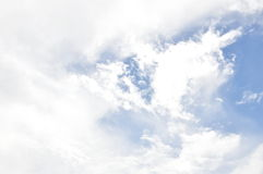 Cloudy on sky in sunny day Royalty Free Stock Photos