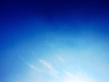 Cloudy sky in a Sunny day of Early sring. Royalty Free Stock Photo