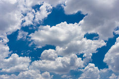 Cloudy sky on the sunny day Stock Images
