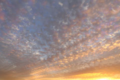 Cloudy sky and sunrise abstract Stock Photography
