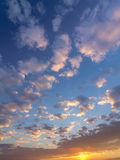 Cloudy sky during sunrise Stock Image