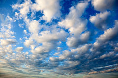 Cloudy sky and sunset Stock Photo