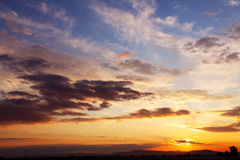 Cloudy sky at sunset Stock Photography