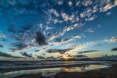 Cloudy sky at sunset Stock Photo