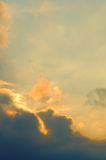 Cloudy sky at sunset Royalty Free Stock Images