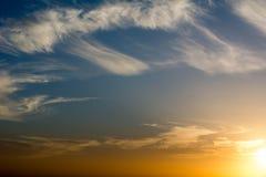 Cloudy sky. Cloudy sunset in Amman/Jordan Stock Images