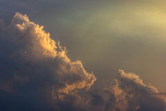 Cloudy sky at sunset in spring season Stock Photography