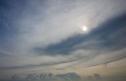 Cloudy sky with sunset time Royalty Free Stock Photography