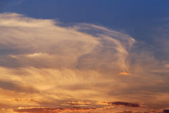 Cloudy sky at sunset Royalty Free Stock Photography