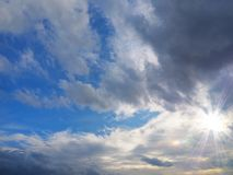 Cloudy sky and sunshine Stock Photography
