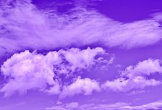 Cloudy sky. In ultra violet color Royalty Free Stock Photos