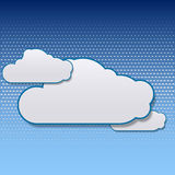 Cloudy sky vector background Royalty Free Stock Photo