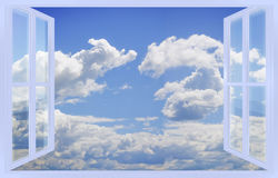 Cloudy sky view from the window Stock Photography