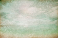 Cloudy sky vintage background royalty free stock photo