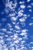 Cloudy sky in white and blue 01. Sheep clouds and a blue sky background Stock Photography