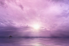 Free Cloudy Sky With Sun Over The Ocean Stock Images - 32055484