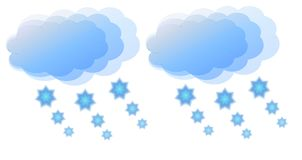 Cloudy and snowy. View of an icon that symbolyzes cloudy and snowy weather Royalty Free Stock Photos