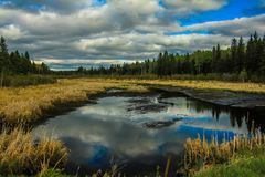 Cloudy start to the day. Riding Mountain National Park, Manitoba, Canada Stock Photo