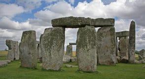 Cloudy Stonehenge. England's famous prehistoric landmark, The Stonehenge royalty free stock photos