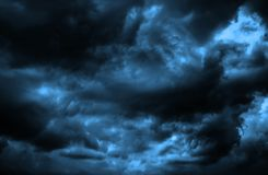 Cloudy black and white dramatic sky background. Cloudy stormy black and white dramatic sky background royalty free stock photos