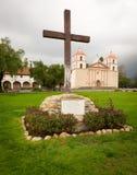 Cloudy stormy day at Santa Barbara Mission Royalty Free Stock Photography
