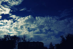Cloudy stormy dramatic sky background Royalty Free Stock Photography